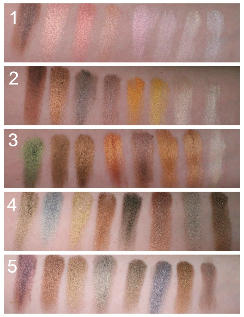 Metallic Pallet Swatches