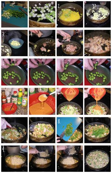 thai chicken steps