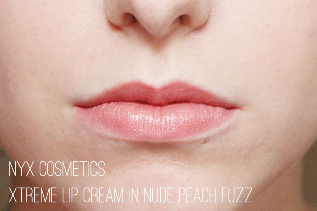 Nyx Cosmetics Xtreme Lip Cream in Nude Peach Fuzz
