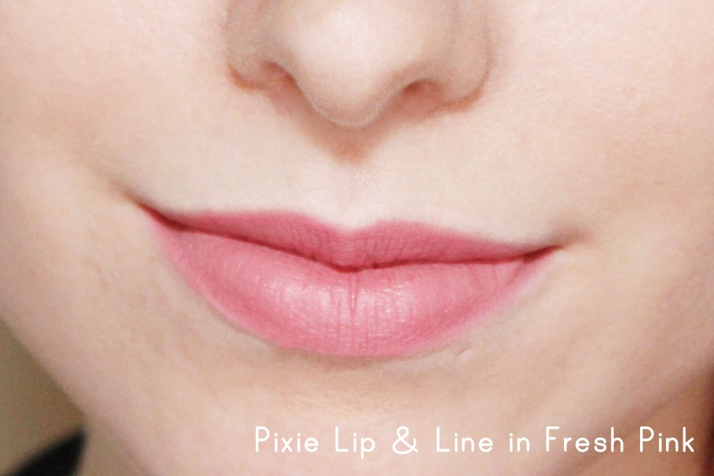 Pixie Lip & Line in Fresh Pink