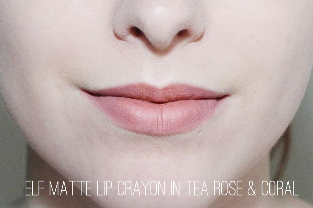 Elf Matte Lip Color in Tea Rose and Coral
