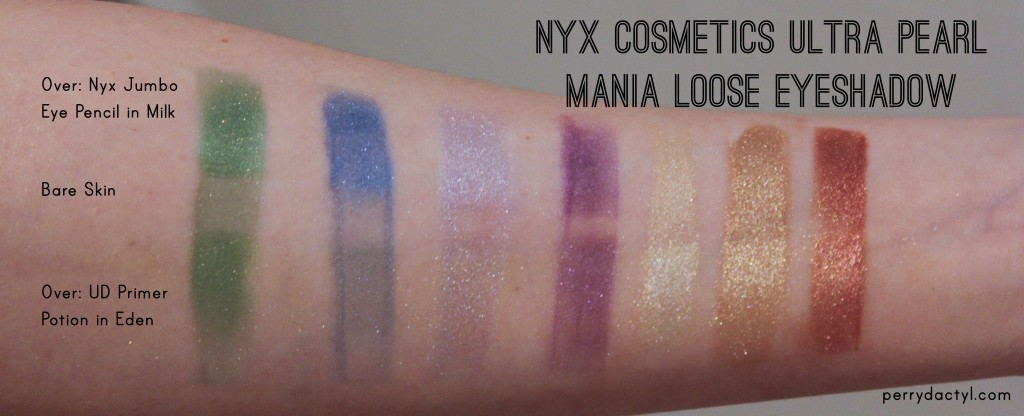Nyx Cosmetics Pearl Mania Swatch