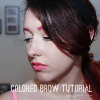 Super easy colored brow tutorial